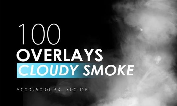 افکت دود ابری با کیفیت بالا برای فتوشاپ Cloudy Smoke Overlays