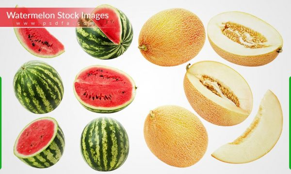 مجموعه تصاویر با کیفیت هندوانه و خربزه مناسب برای طراحی