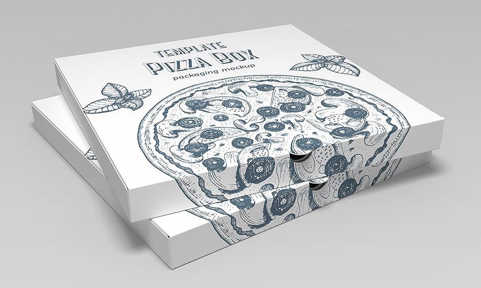 موکاپ جعبه پیتزا در حالات و زوایای مختلف قابل ویرایش در فتوشاپ