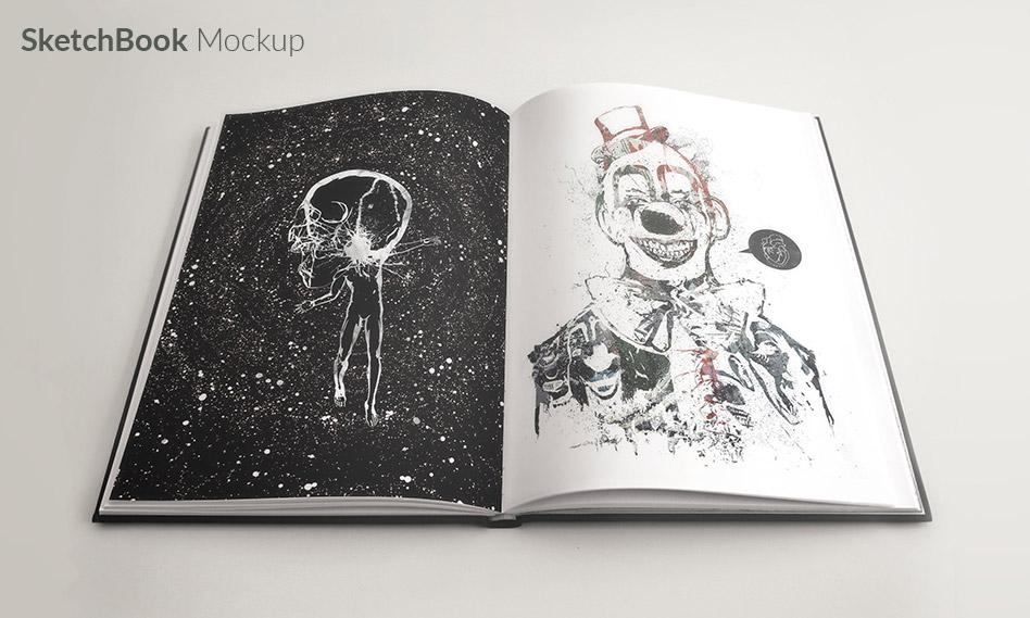 موکاپ دفتر طراحی و نقاشی به صورت لایه باز برای فتوشاپ