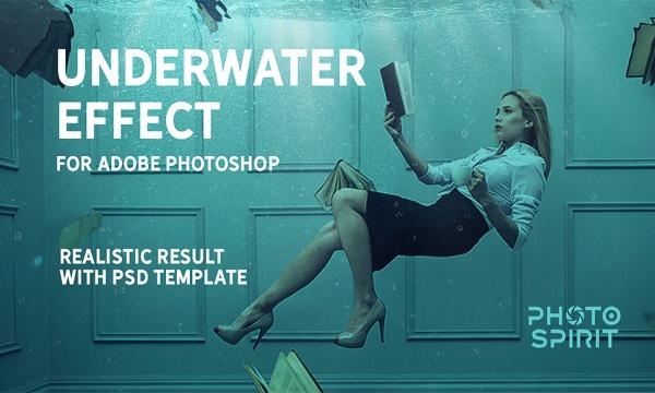 افکت زیر آب بر روی عکس و تصاویر با کیفیت بالا برای فتوشاپ
