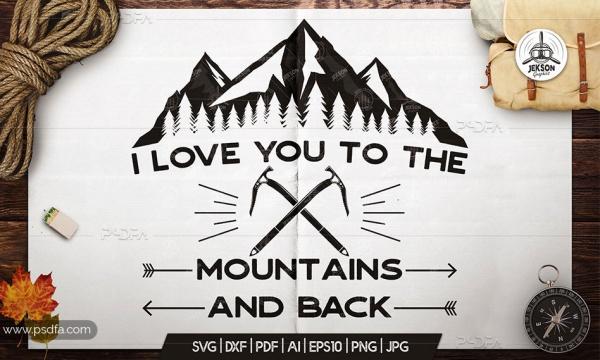وکتور لوگوی کوهستان