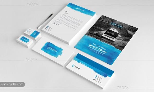وکتور ست اداری شامل کارت تخفیف ، کارت ویزیت ، سربرگ ، فاکتور فروش و …