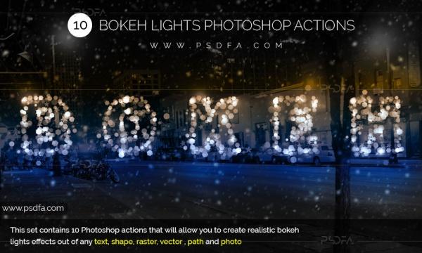 اکشن فتوشاپ ایجاد افکت بوکه های رنگی و متنوع بر روی تصاویر