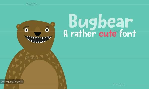 فونت کارتونی Bugbear مناسب برای طرح های کودکانه