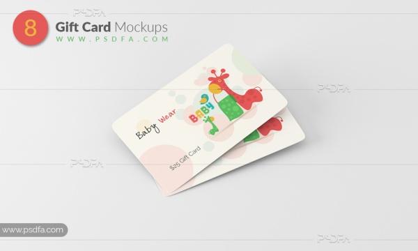 موکاپ گیفت کارت و کارت هدیه