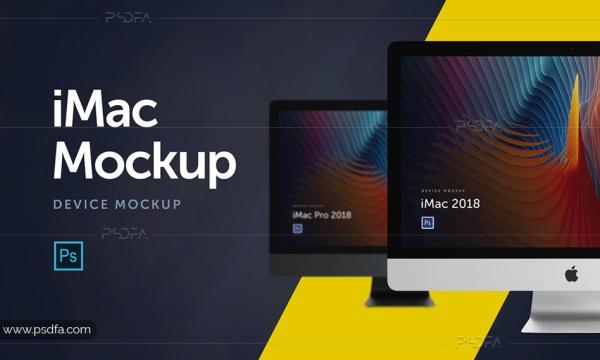موکاپ iMac و iMac Pro