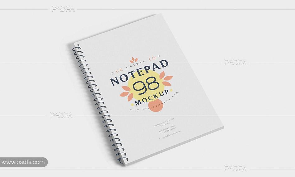 موکاپ دفترچه یادداشت سیمی – Journal Notebook Mockups