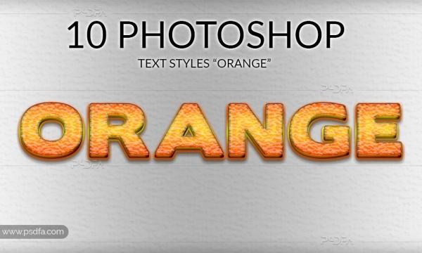 استایل پرتقال و آبمیوه برای فتوشاپ – Orange Photoshop Styles