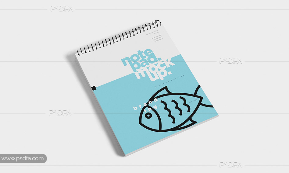 قالب لایه باز موکاپ دفترچه یادداشت سیمی کوچک با فرمت PSD