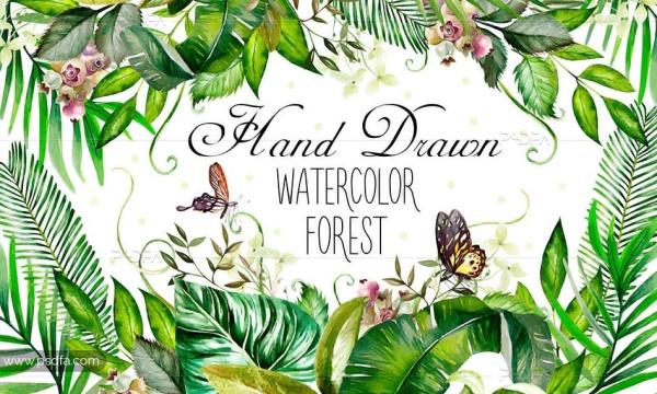 کلیپ آرت عناصر طراحی جنگل