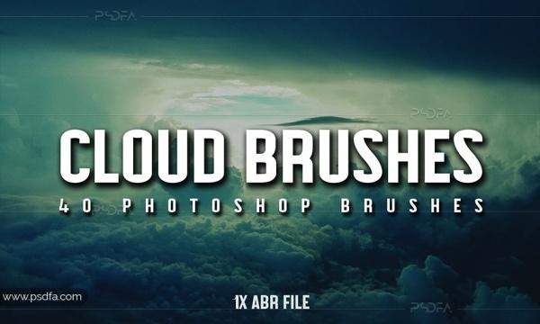 براش ابر برای فتوشاپ – Cloud Brushes for Photoshop