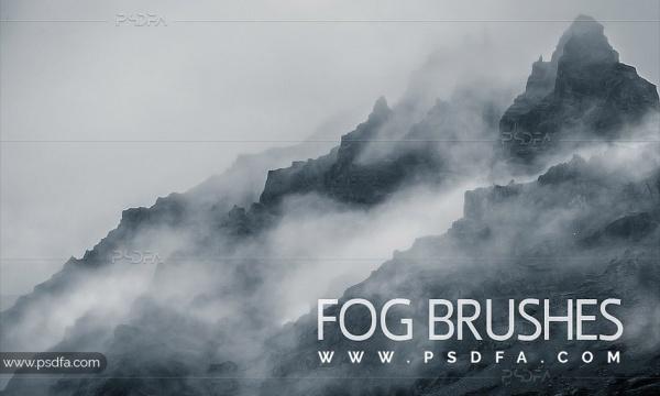 براش مه و بخار آب برای فتوشاپ با فرمت ABR