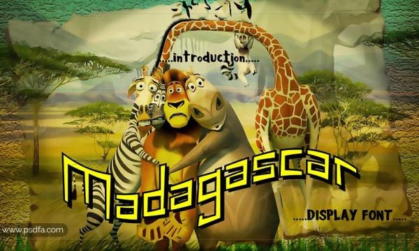 فونت نمایشی و کودکانه ماداگاسکار – Madagascar Display Font