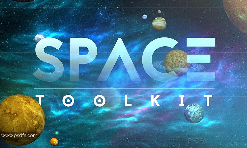 کلیپ آرت سیارات منظومه شمسی با کیفیت بالا و فرمت PSD