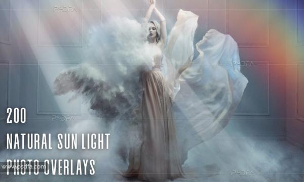 200 افکت تابش نور خورشید طبیعی بر روی عکس و تصاویر برای فتوشاپ