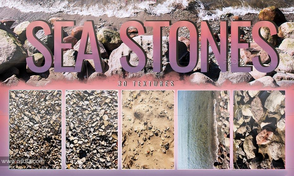 30 تکسچر سنگ و شن و ماسه ساحلی و دریایی با کیفیت بالا