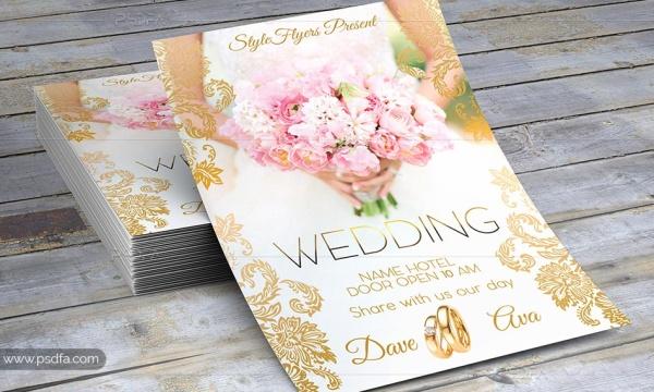 تراکت و کارت دعوت عروسی