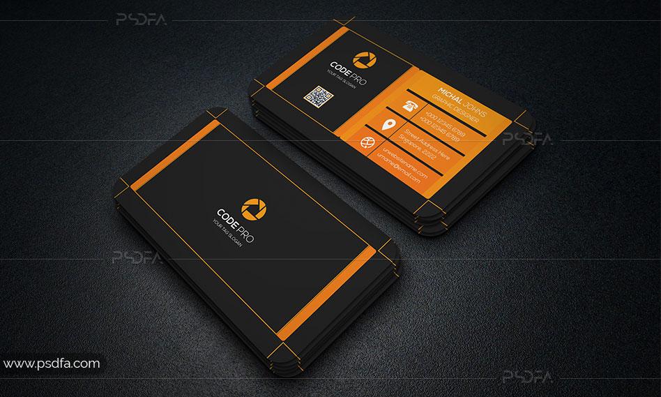 طرح لایه باز کارت ویزیت کسب و کار شرکتی با فرمت PSD برای فتوشاپ