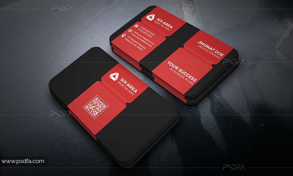قالب لایه باز کارت ویزیت شرکتی قابل ویرایش در نرم افزار فتوشاپ