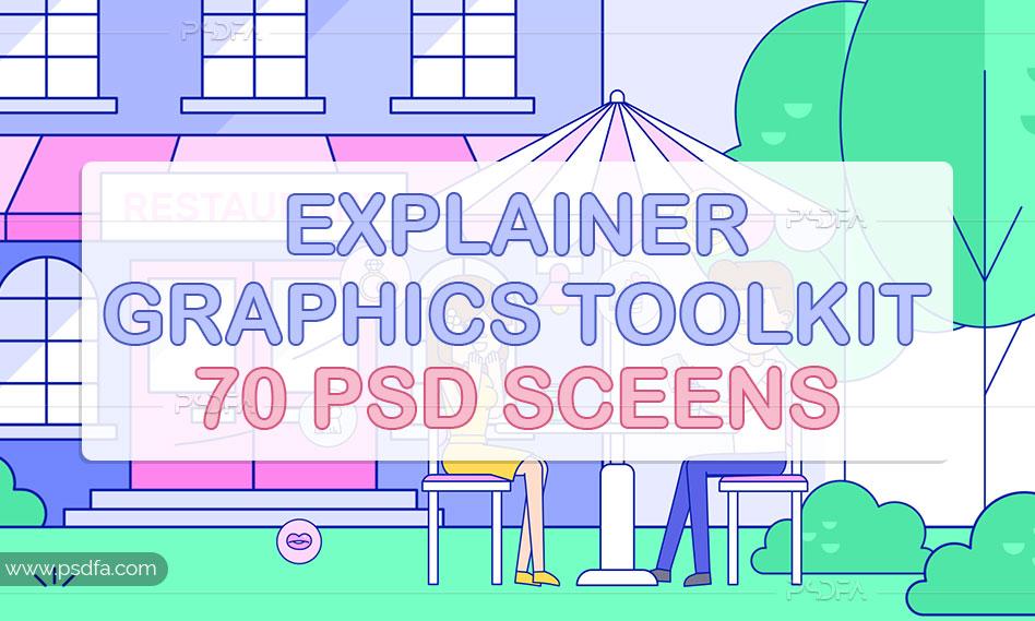 مجموعه فایل لایه باز تصاویر مفهومی فلت برای طراحی صفحات سایت و گرافیک