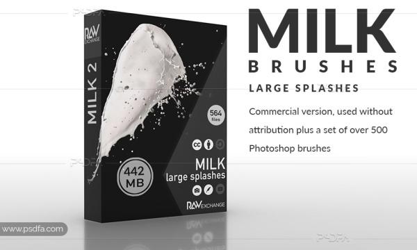 براش فتوشاپ چلپ چلوپ شیر با کیفیت و رزولوشن بالا