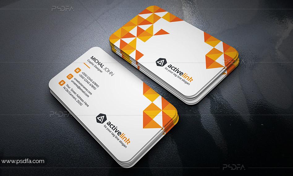 قالب لایهباز کارت ویزیت بیزینس و کسب و کار شرکتی