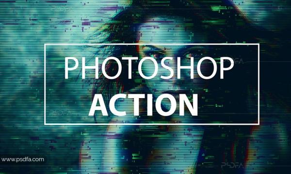 اکشن فتوشاپ افکت گلیچ و پراکندگی بر روی عکس و تصاویر + آموزش