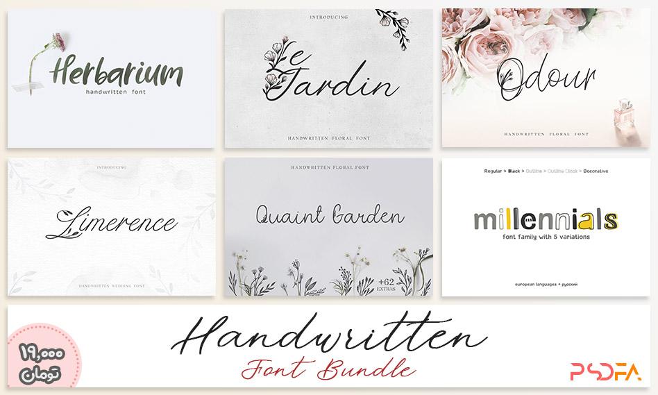 10 فونت دستنویس انگلیسی زیبا برای طراحی و گرافیک