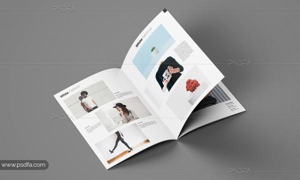 قالب لایه باز کاتالوگ و بروشور نمونه کار عکاسی ، فشن ، مد و لباس با فرمت PSD