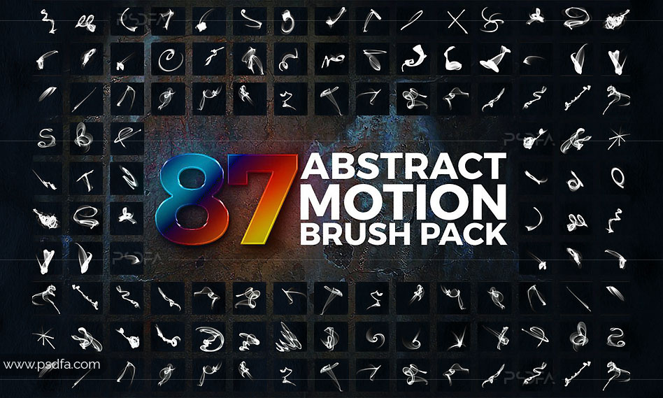 براش افکتهای نوری حرکتی انتزعی برای فتوشاپ با فرمت ABR