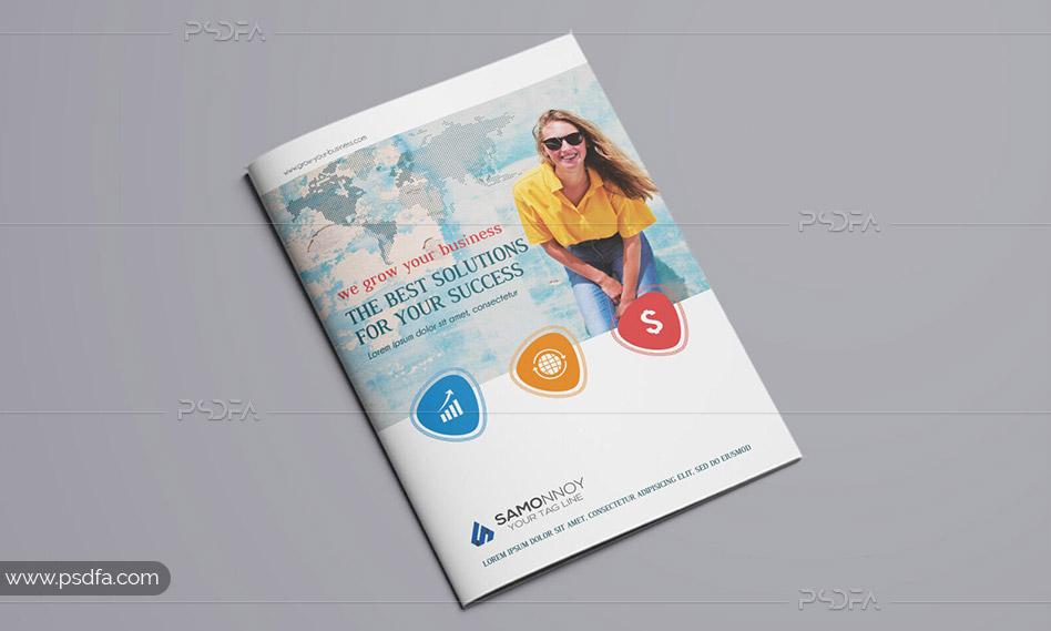 طرح لایهباز بروشور شرکتی 2 لتی با فرمت PSD قابل ویرایش در فتوشاپ