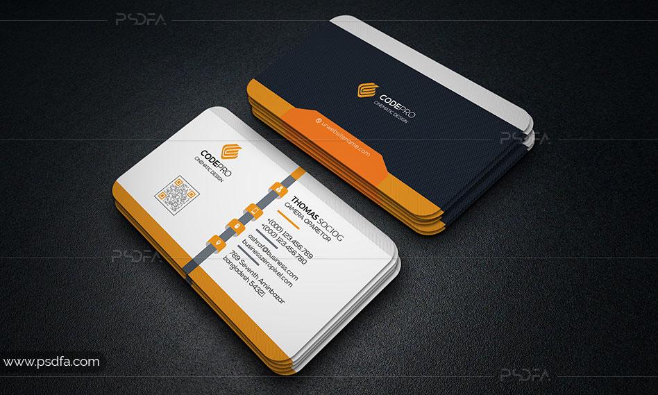 فایل لایهباز کارت ویزیت شرکتی با رنگبندی متنوع برای فتوشاپ