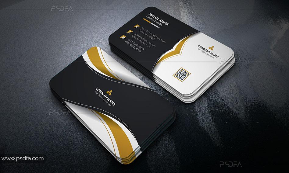 فایل وکتور کارت ویزیت با سه رنگبندی متنوع برای ایلوستریتور