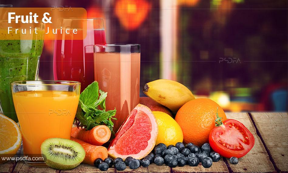 عکس و تصاویر میوه و آبمیوه با کیفیت بالا مناسب برای طراحی