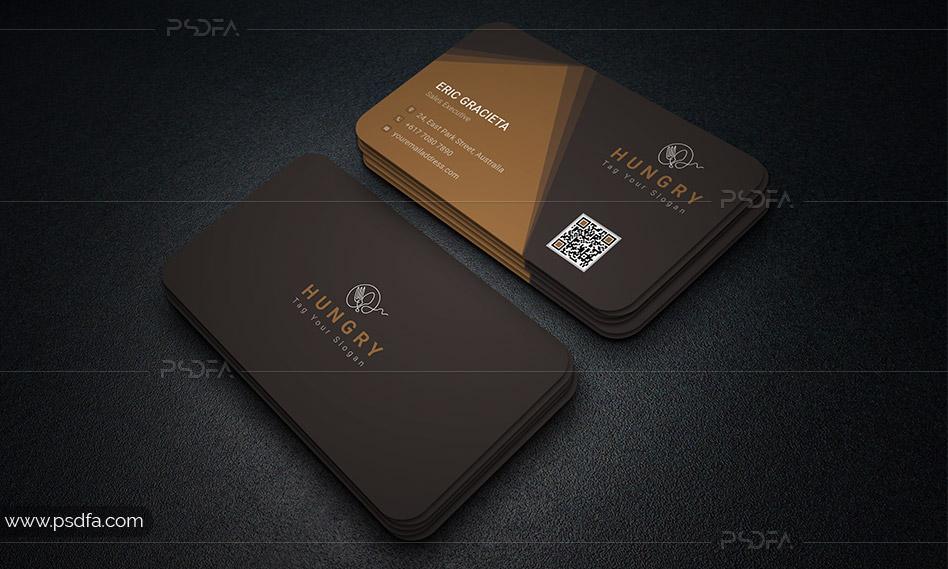 طرح لایهباز کارت ویزیت رستوران با فرمت PSD برای فتوشاپ
