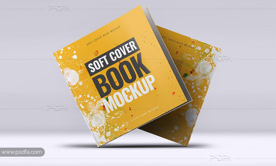 موکاپ کتاب خشتی یا مربعی
