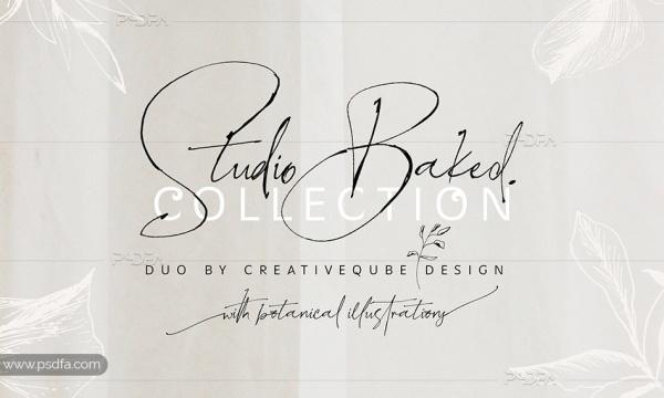 فونت دستنویس انگلیسی و فوقالعاده زیبای Studio Baked