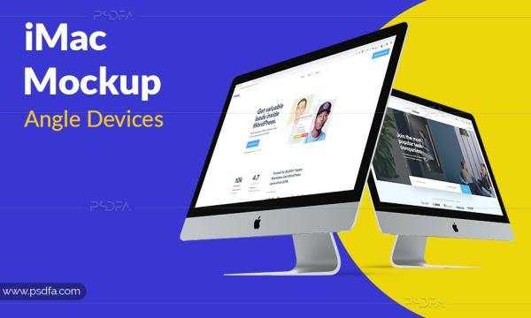 موکاپ و پیشنمایش iMac 2019 لایهباز برای فتوشاپ