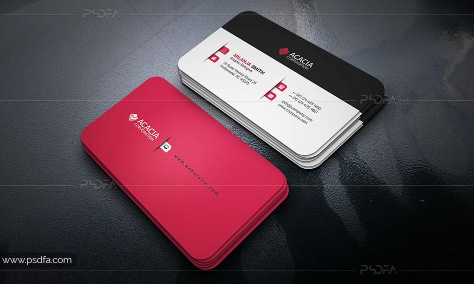 طرح لایهباز کارت ویزیت ساده شرکتی و شخصی برای فتوشاپ