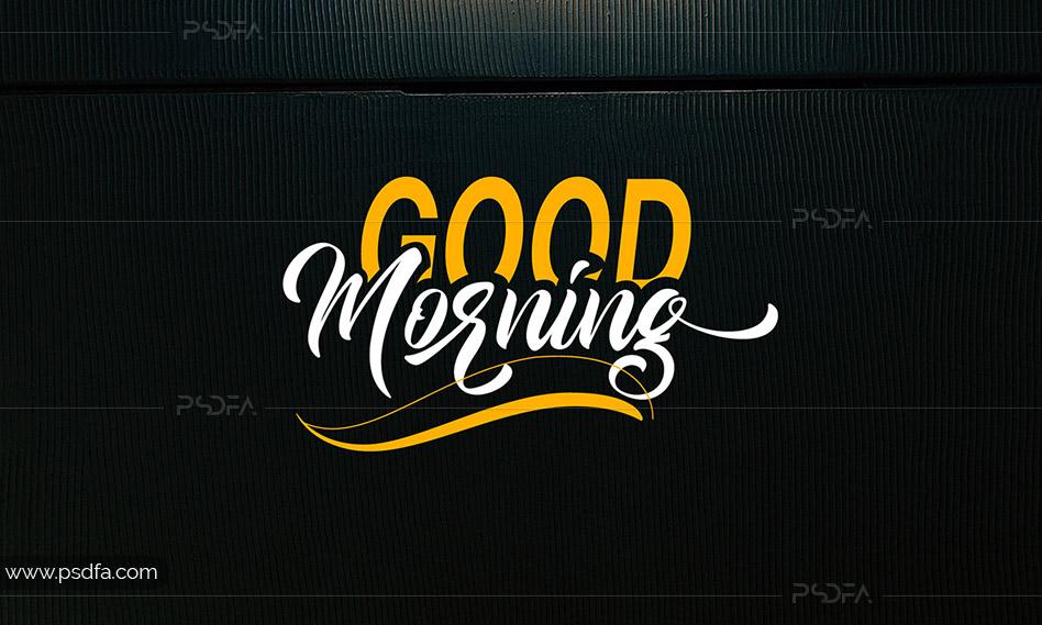 اسکریپت فونت انگلیسی فوقالعاده زیبای Good Morning