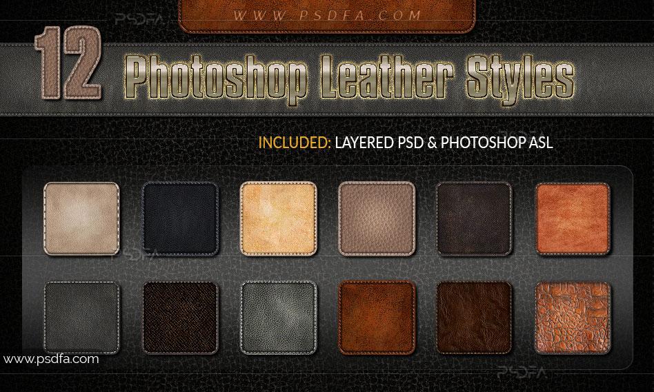 استایل چرم فوق العاده زیبا برای فتوشاپ – Photoshop Leather Styles