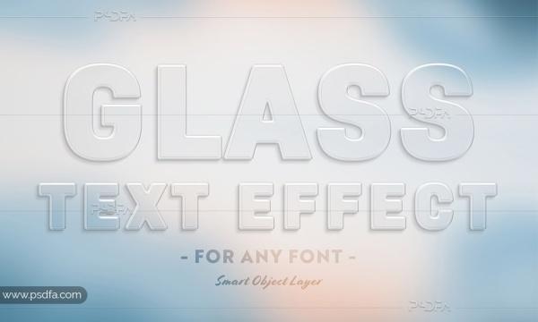 افکت متن شیشهای و شفاف