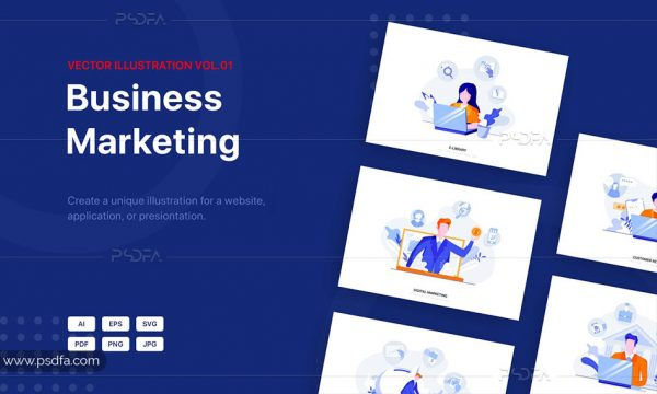 تصاویر وکتور و فلت برای طراحی سایت ، اپلیکیشن و یا قالبهای ارائه