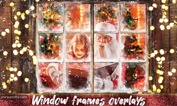 افکت قاب و فریم پنجره چوبی بر روی عکس و تصاویر در فتوشاپ