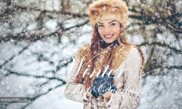 ویدئو لوپ بارش برف و افکت برف بر روی عکس و تصاویر در فتوشاپ