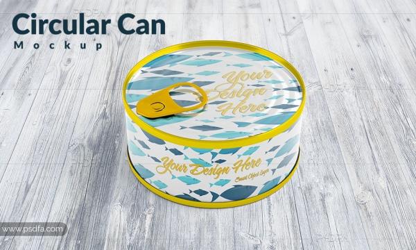 موکاپ تن ماهی لایهباز با فرمت PSD برای فتوشاپ