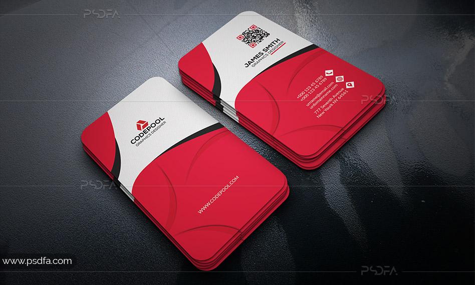 قالب آماده کارت ویزیت با 3 رنگبندی مختلف و فرمت PSD