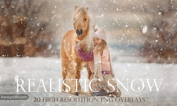 افکت بارش برف بر روی عکس و تصاویر با کیفیت بالا