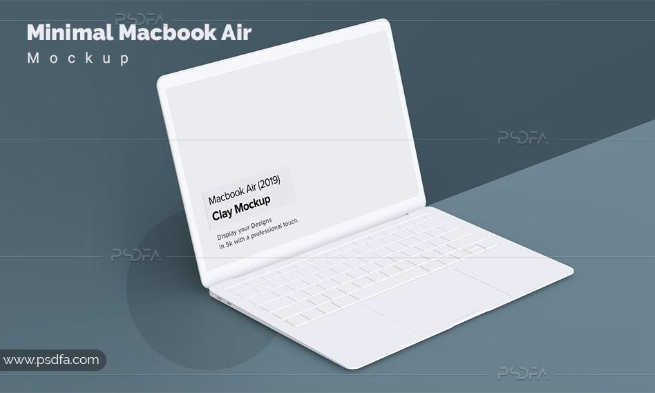 موکاپ لپتاپ مکبوک ایر مینیمال – Minimal Macbook Air Mockup